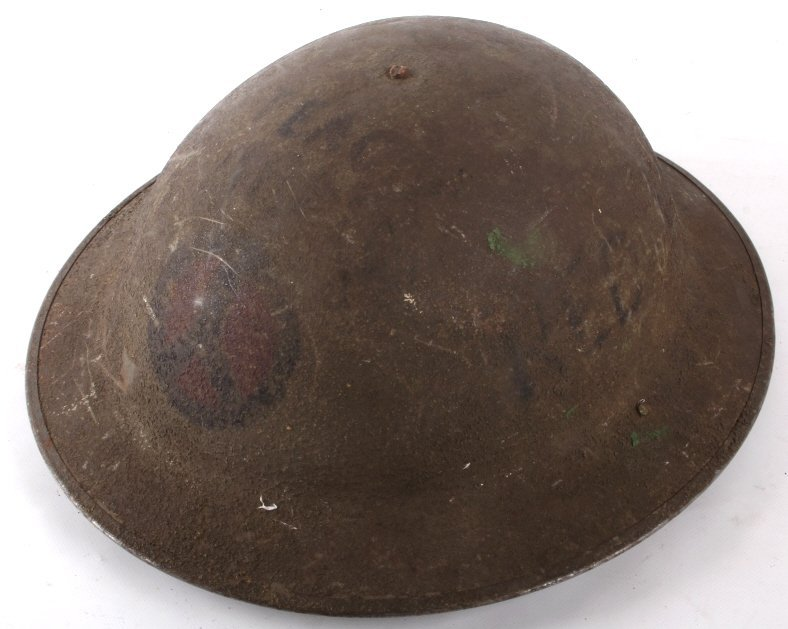 U.S Military WWI Model 1917 Helmet Trench Art - 3