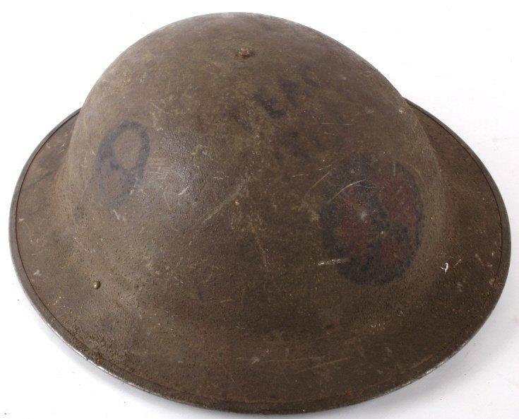 U.S Military WWI Model 1917 Helmet Trench Art - 4