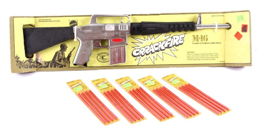Mattel M-16 Toy Rifle with Caps