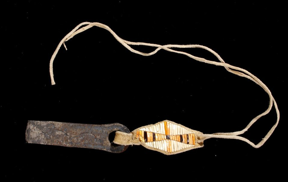 Northern Plains Quilled File Striker 19th C.