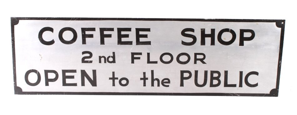 Coffee Shop Advertising Sign Butte Montana