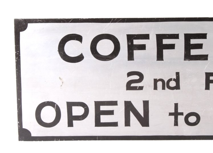 Coffee Shop Advertising Sign Butte Montana - 2