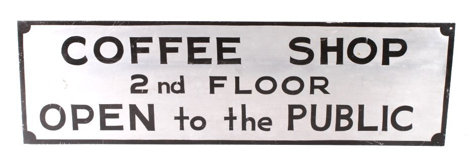 Coffee Shop Advertising Sign Butte Montana - 4