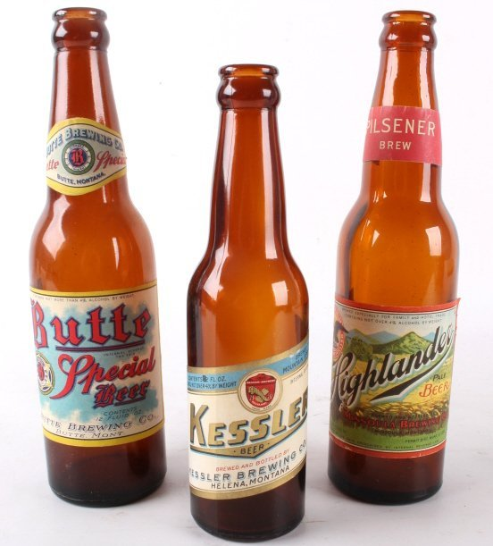 Collection Of Rare Montana Beer Bottles