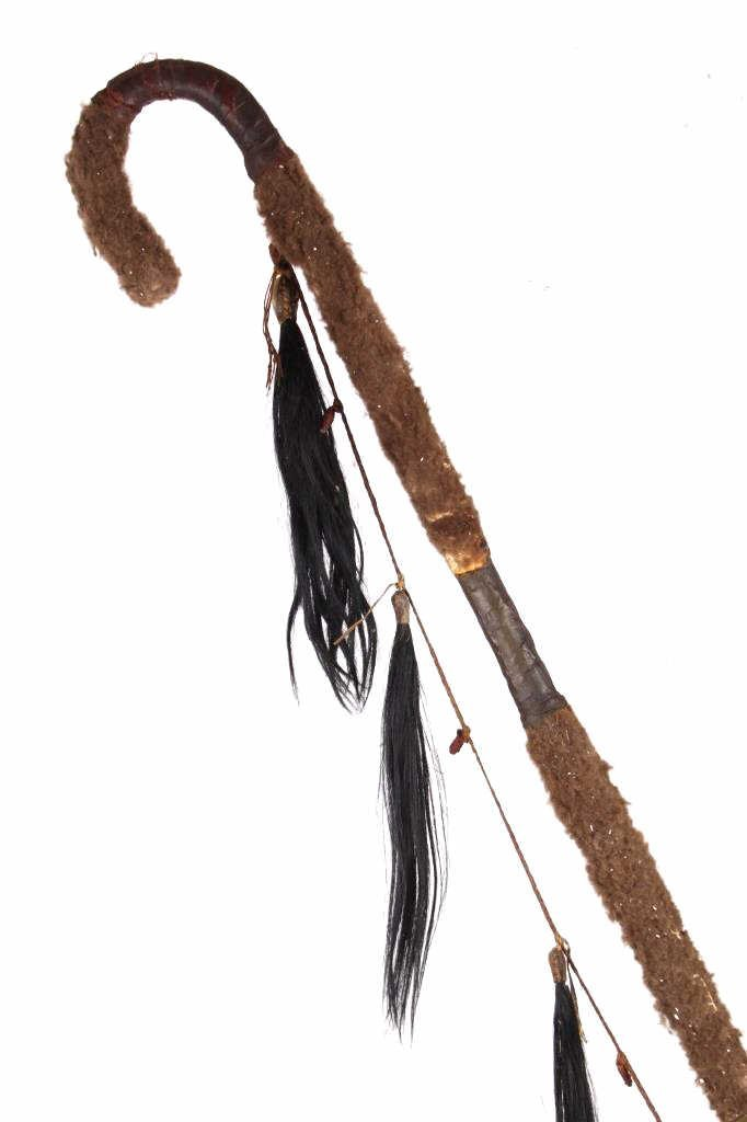 Kiowa Buffalo Hair Wrapped Coup Staff c. 1850-1890