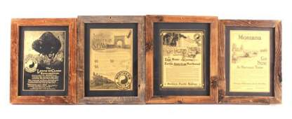 N.P.Ry. Yellowstone Park Framed Advertisements