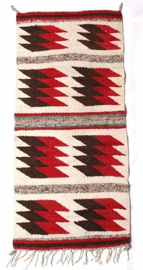 Navajo Ganado Pattern Wool Trade Rug Mid 20th C.