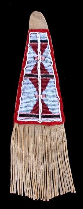 Crow Beaded Pipe Tomahawk Drop c. 19th-20th