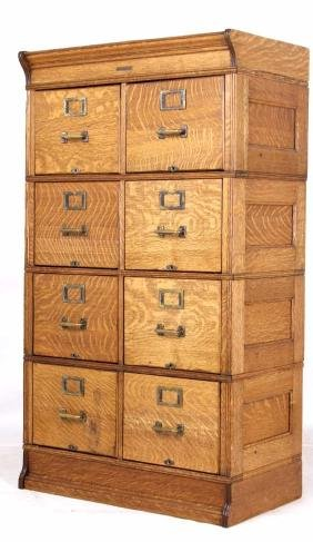 Yawman and Erbe Oak Stacking File Cabinet c. 1900