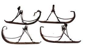 Antique Set Of Horse Sleigh Runners