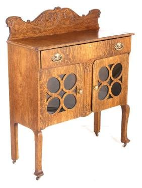 Art Nouveau Quarter Sawn Oak Sideboard 1890-1910