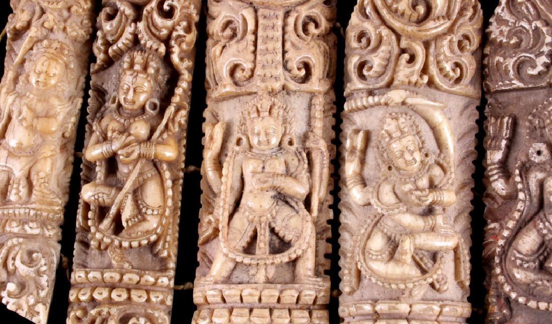 Tibetan Ritual Bone Apron Crown Cuffs 18th/19th C. - 10