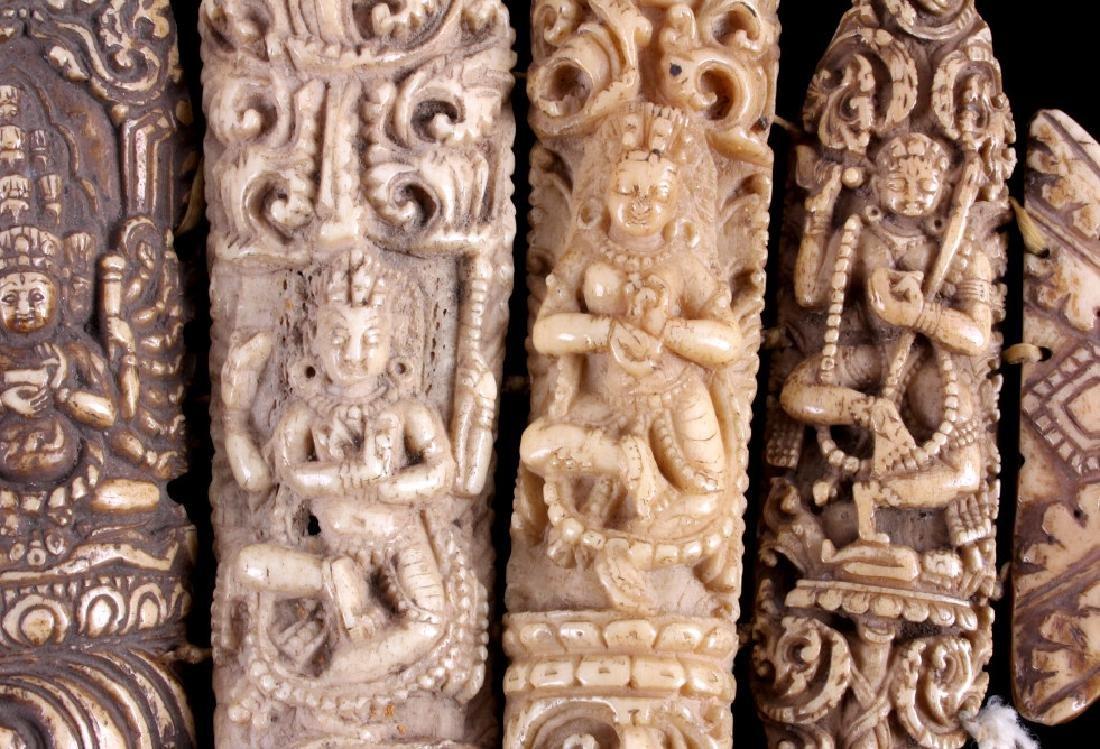 Tibetan Ritual Bone Apron Crown Cuffs 18th/19th C. - 11