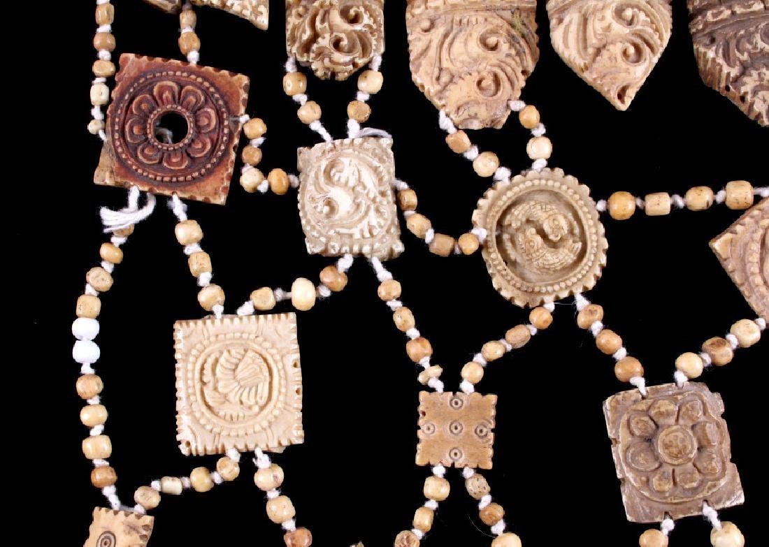 Tibetan Ritual Bone Apron Crown Cuffs 18th/19th C. - 12