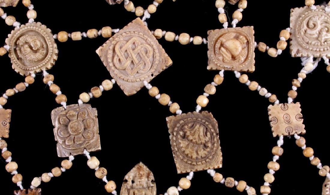 Tibetan Ritual Bone Apron Crown Cuffs 18th/19th C. - 13