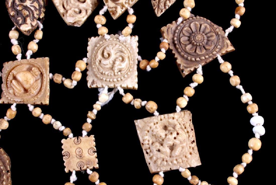 Tibetan Ritual Bone Apron Crown Cuffs 18th/19th C. - 14