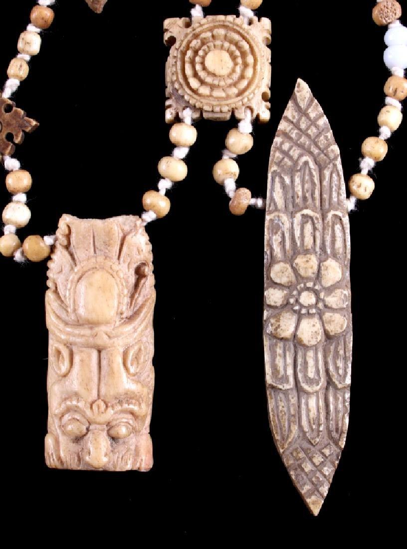 Tibetan Ritual Bone Apron Crown Cuffs 18th/19th C. - 18