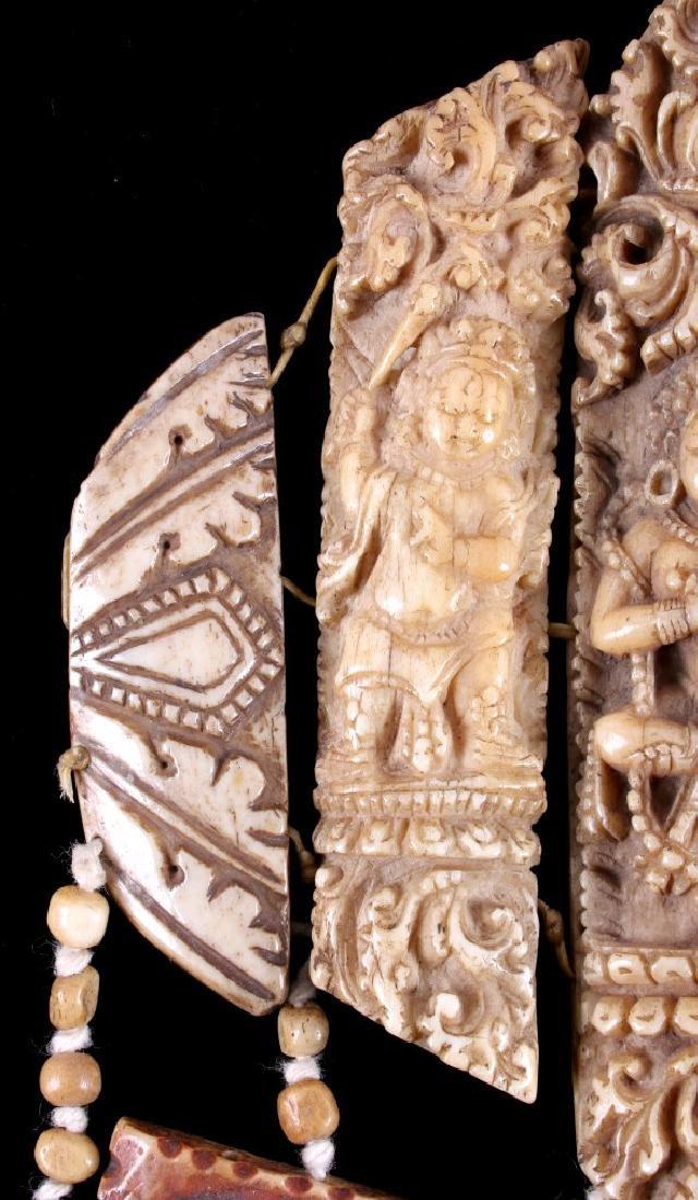 Tibetan Ritual Bone Apron Crown Cuffs 18th/19th C. - 20