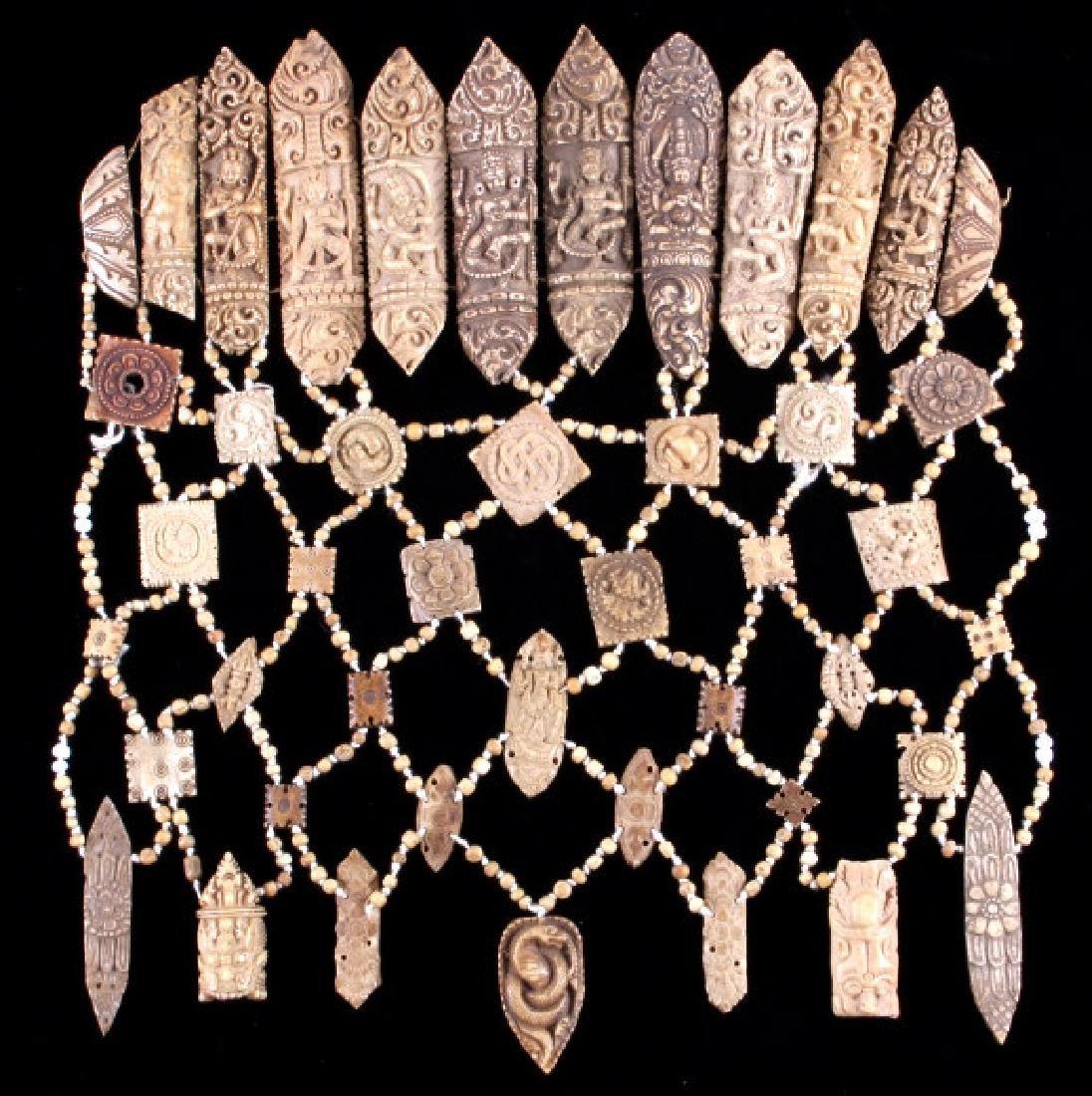 Tibetan Ritual Bone Apron Crown Cuffs 18th/19th C. - 2