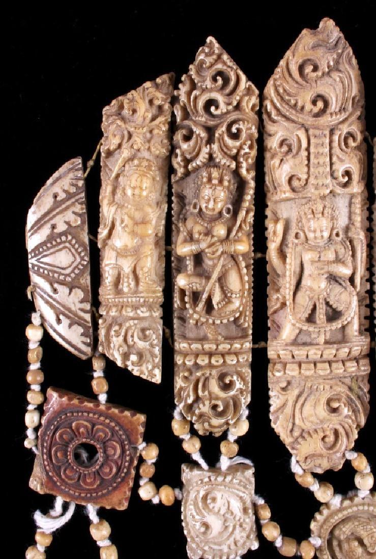 Tibetan Ritual Bone Apron Crown Cuffs 18th/19th C. - 5