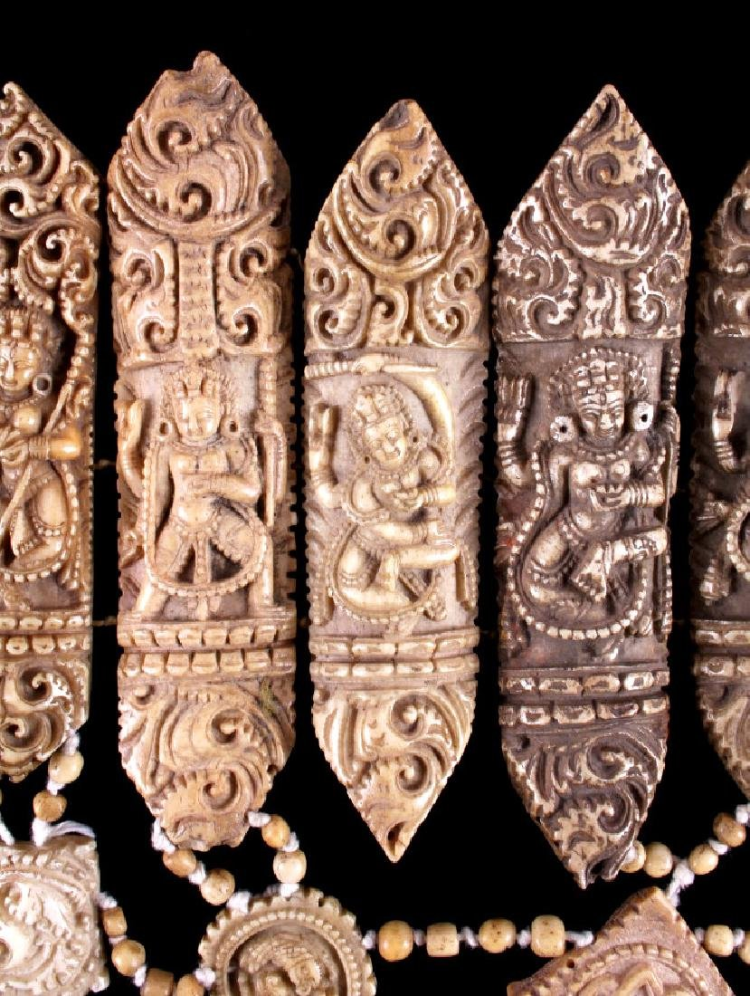 Tibetan Ritual Bone Apron Crown Cuffs 18th/19th C. - 6
