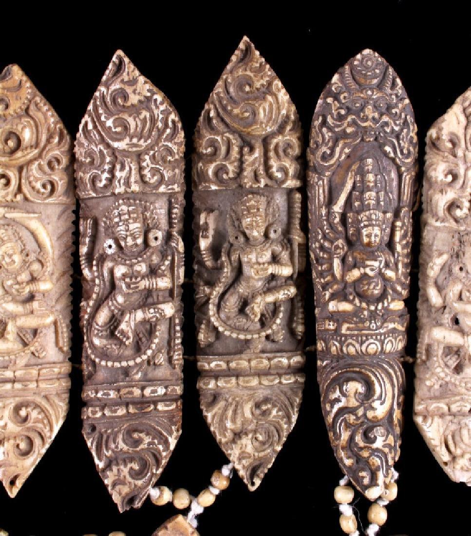 Tibetan Ritual Bone Apron Crown Cuffs 18th/19th C. - 7