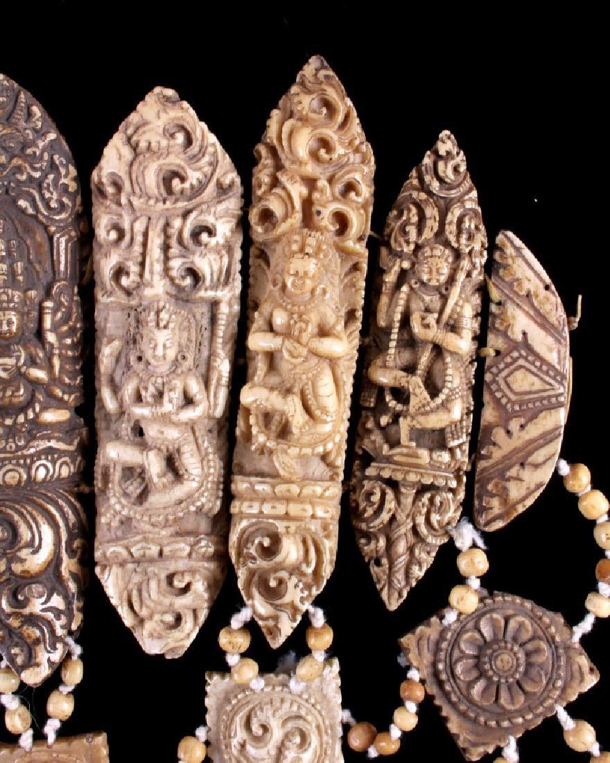 Tibetan Ritual Bone Apron Crown Cuffs 18th/19th C. - 8