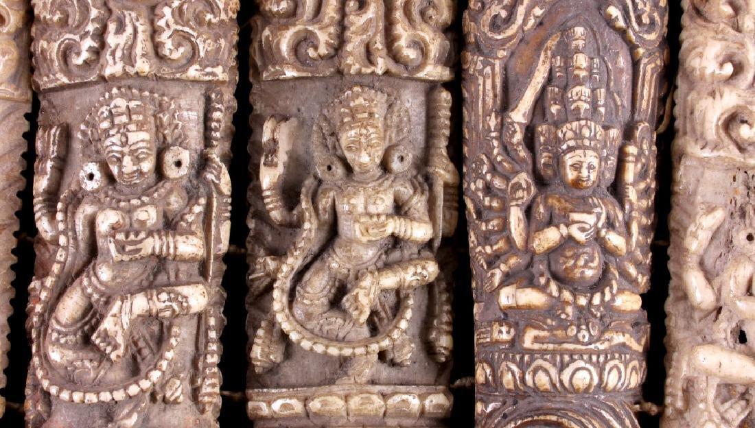 Tibetan Ritual Bone Apron Crown Cuffs 18th/19th C. - 9