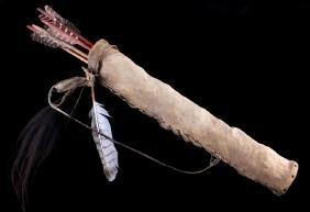 Northern Plains Indian Parfleche Arrow Quiver