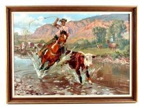 Robert Meyers Original Oil on Canvas Painting