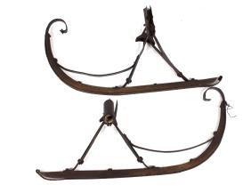 Antique Pair Of Horse Sleigh Runners