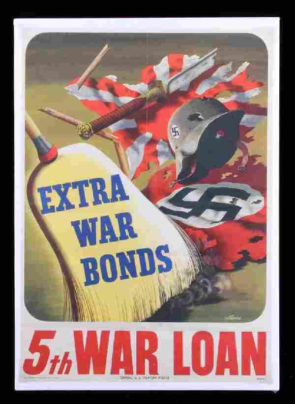 Original WWII War Bond Poster
