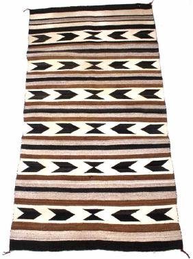 Navajo Crystal Wool Rug circa Early 20th C.