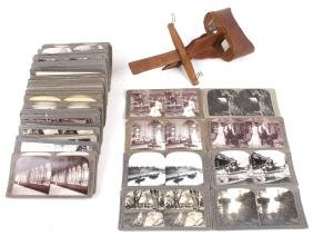 Early Rare Stereo Viewer And Cards Collection