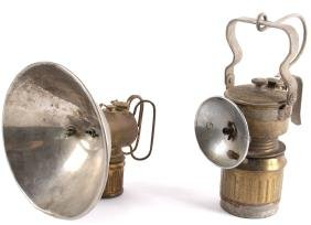 Rare Pair Of Miner's Carbide Lamps