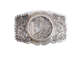 Silver Peace Dollar Belt Buckle