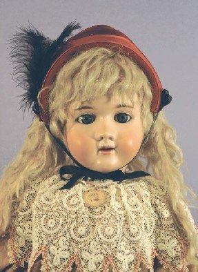 Antique German Bisque Doll, Handwerck SH 6 1/2