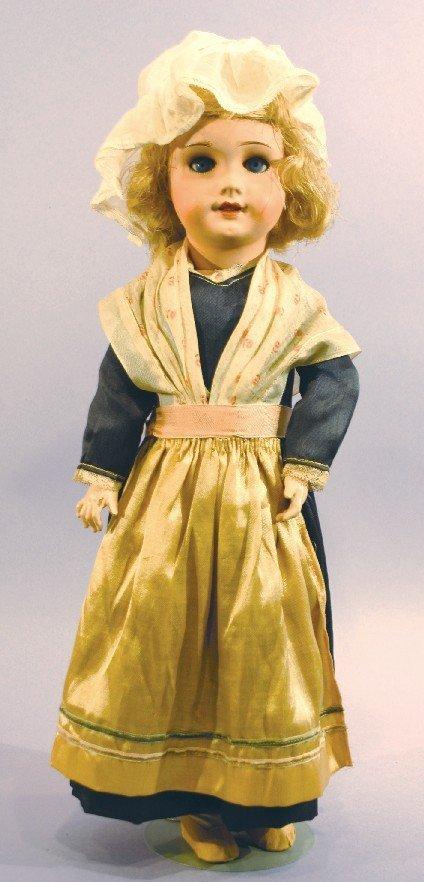 Antique Papier Mache French Provincial Doll