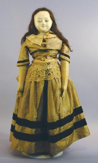 Antique English Slit-Head Wax Doll