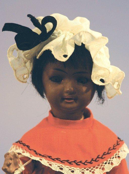 Antique Black German Bisque Doll, S(PB) H Hanna