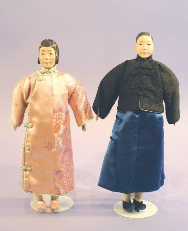 Antique Wooden Dolls- Door of Hope Pair