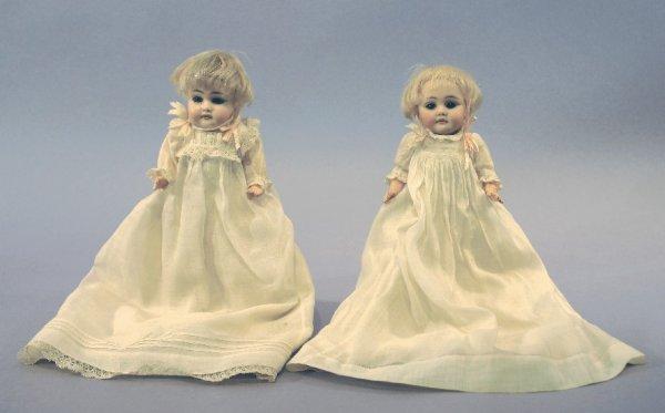 Antique German Bisque Twin Dolls, Kestner 143