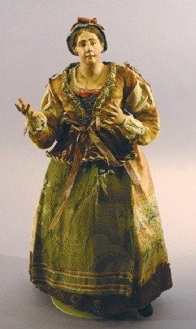 Antique Italian Creche Lady Figure