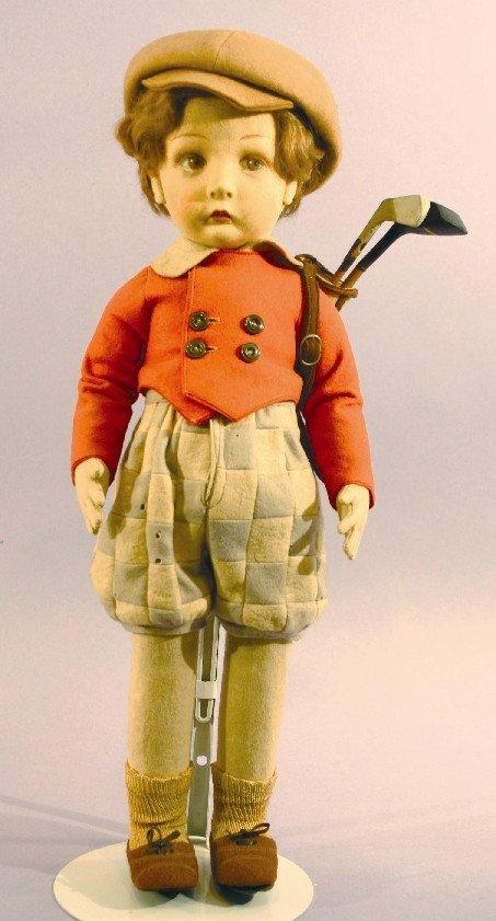 Antique Cloth Lenci Golfer Doll, Sports Series