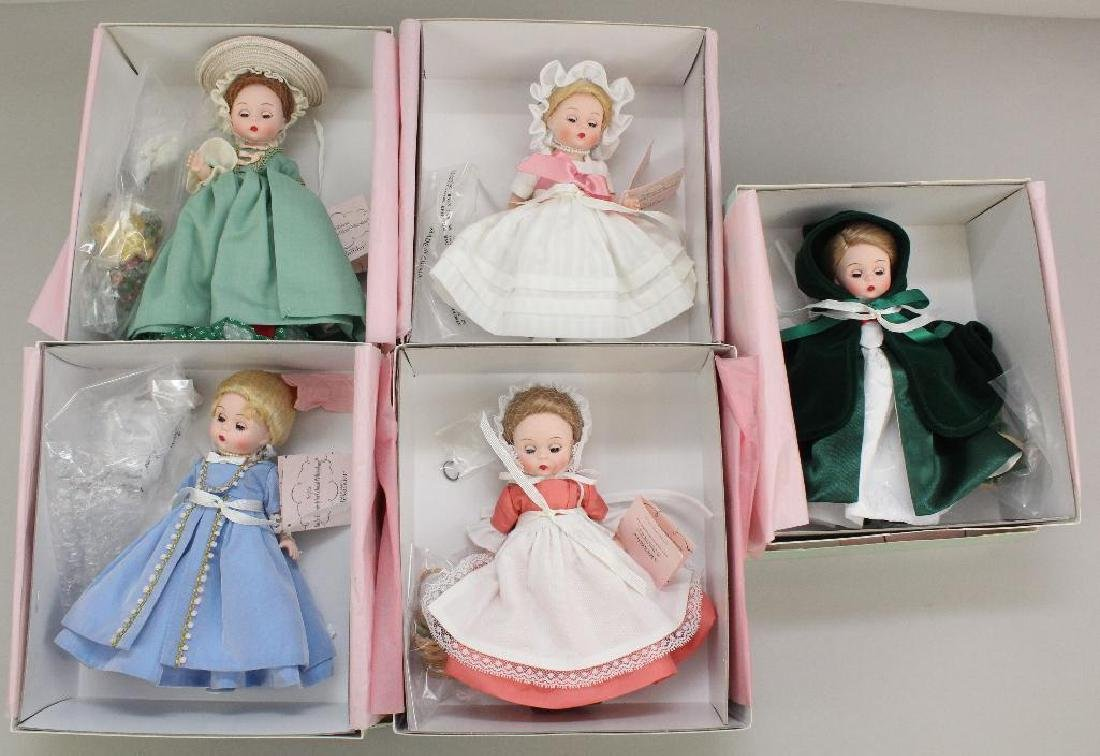"""LOT OF (5) MIB 8"""" MADAME ALEXANDER DOLLS MADE FOR"""