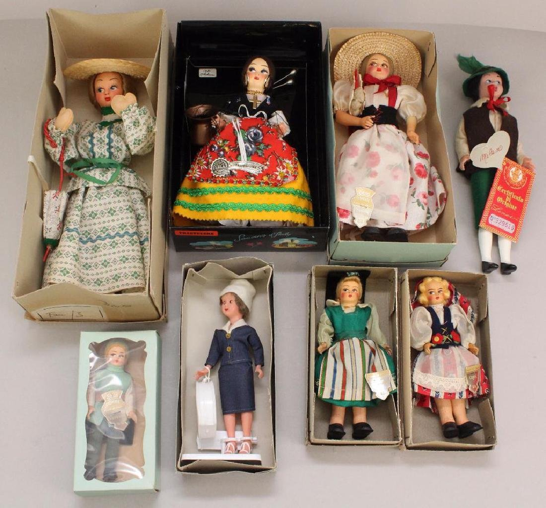 LOT OF SMALL MIB 1970's-80's DOLLS MADE IN ITALY.