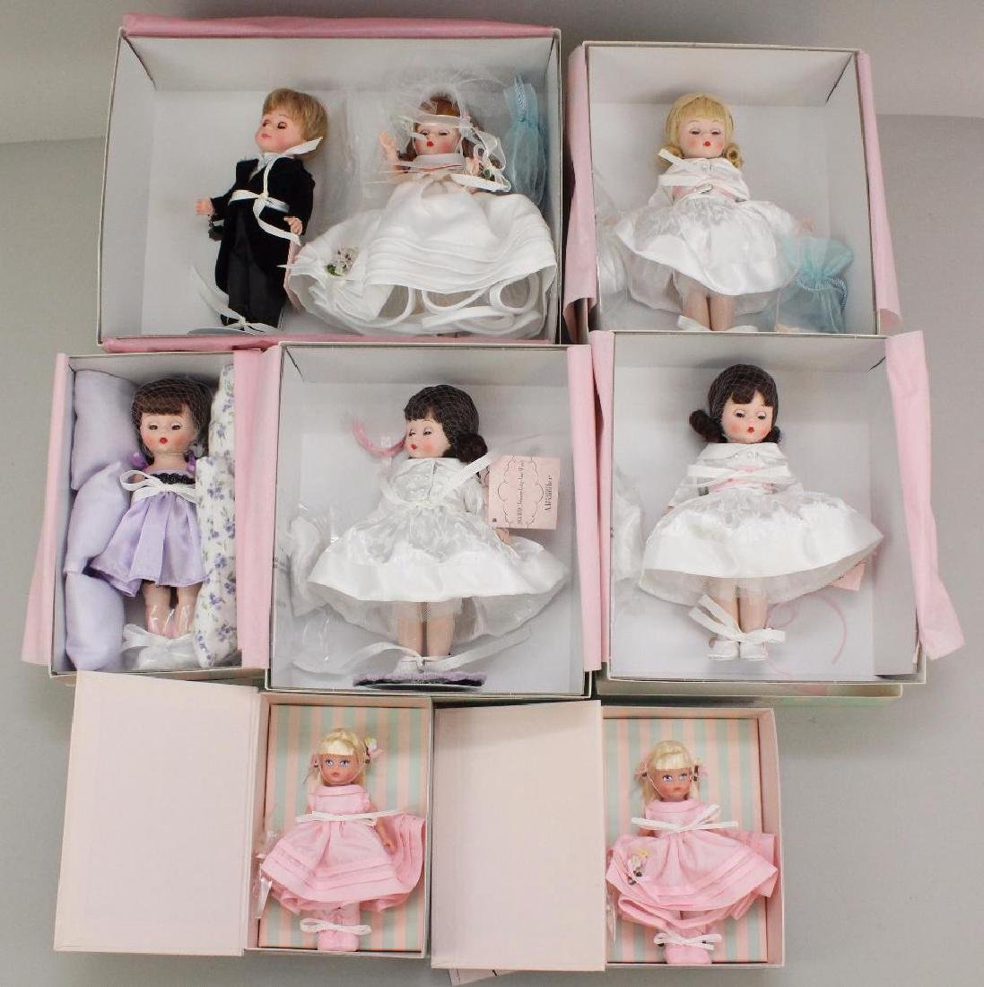 LOT OF (7) MIB NRFB MADAME ALEXANDER DOLLS FROM THE