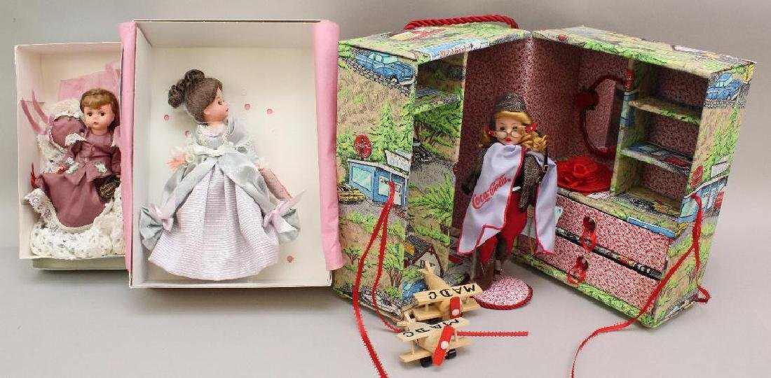 LOT OF MADAME ALEXANDER DOLLS FROM THE 2001 BOSTON MADC