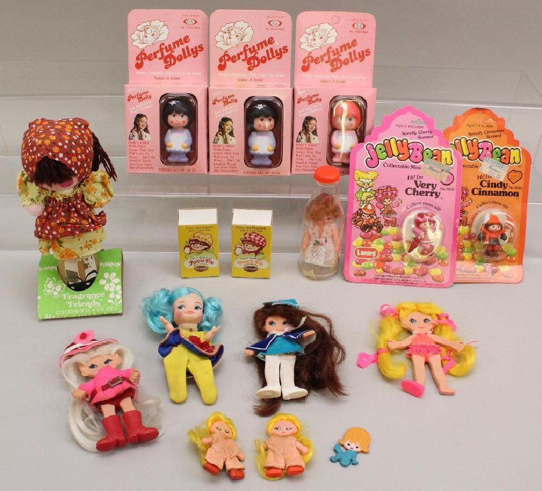 LOT OF 1960's-1980's NOVELTY DOLLS; SOME MIB/MIP.