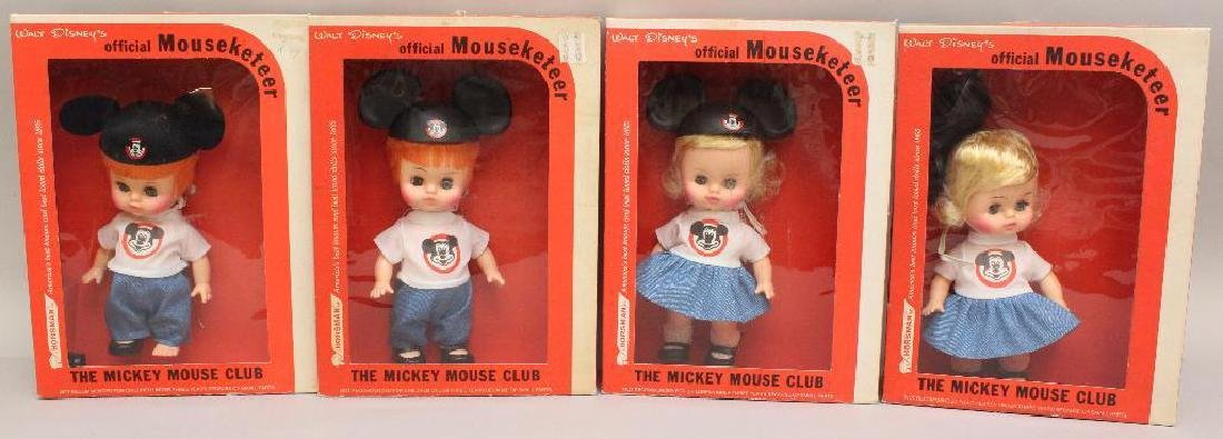 LOT OF (4) � WALT DISNEY OFFICIAL MOUSEKETEER DOLLS